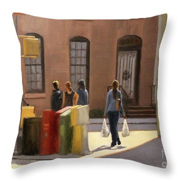 Corner Stop Throw Pillow