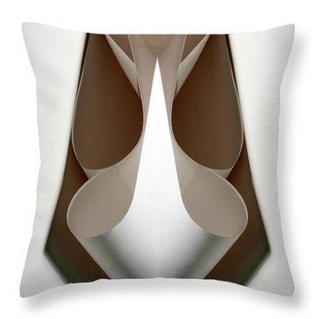 Cornered Curves Throw Pillow