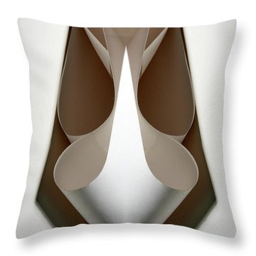 Cornered Curves Throw Pillow