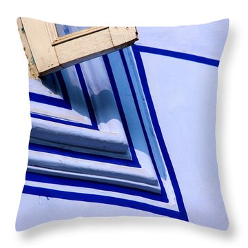 Cornering The Blues Throw Pillow by Prakash Ghai