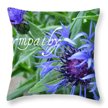 Cornflowers Throw Pillow by Shirley Sirois