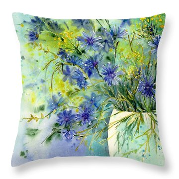 Field Of Flowers Throw Pillows