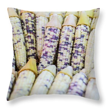 Corns  Throw Pillow