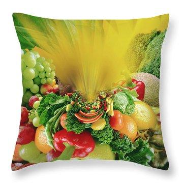 Cornucipia Throw Pillow