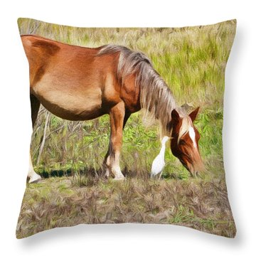 Corolla's Wild Horses Throw Pillow
