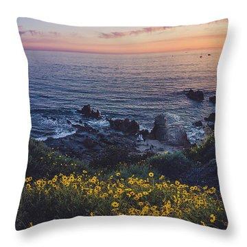 Corona Del Mar Super Bloom Throw Pillow