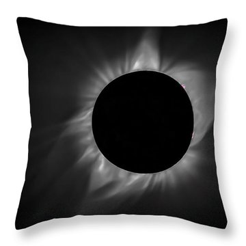 Corona During Total Solar Eclipse Throw Pillow