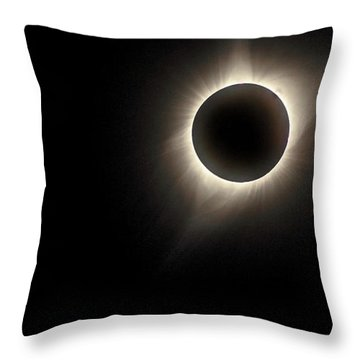 Throw Pillow featuring the photograph Corona by Rikk Flohr