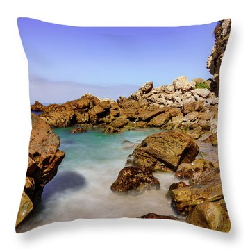 Corona Tide Pools Throw Pillow by Jeremy Farnsworth