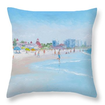 Coronado Beach San Diego Throw Pillow