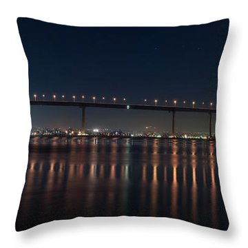 Coronado Bridge San Diego Throw Pillow