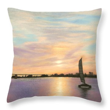Coronado Bridge Sunset  B Throw Pillow