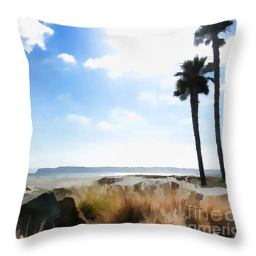 Coronado - Digital Painting Throw Pillow