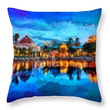 Coronado Springs Resort Throw Pillow