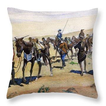 Coronados March, 1540 Throw Pillow by Granger