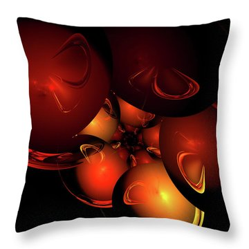 Coronal Mass Ejections Throw Pillow by Jeremy Nicholas