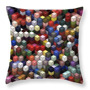 Cororful Cubes 2 Throw Pillow