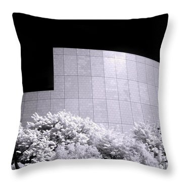 Corporate Architecture And Trees Throw Pillow by Yali Shi