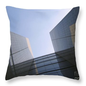 Corporate Architecture Throw Pillow by Yali Shi