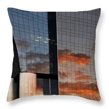 #corporative #architecture At Dusk Throw Pillow