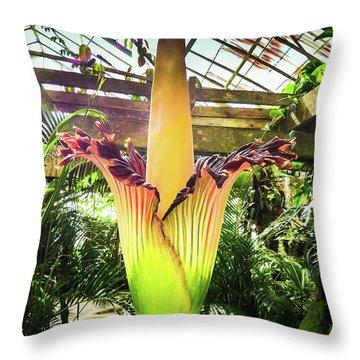 Corpse Plant Throw Pillow