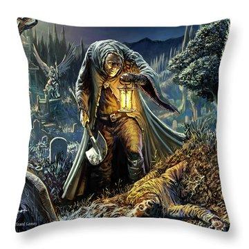 Corpse Taker Throw Pillow