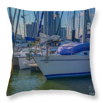 Corpus Christi Marina Throw Pillow