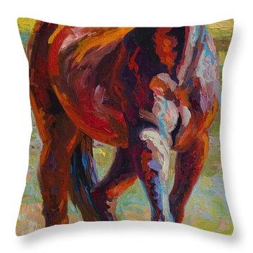 Corral Boss - Mustang Throw Pillow