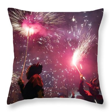 Correfoc Fallas 2015 Throw Pillow