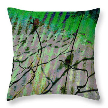 Corregated Shadows Throw Pillow by Jan Amiss Photography
