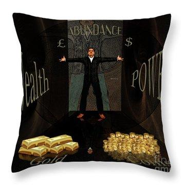 Corridor Of Wealth Throw Pillow