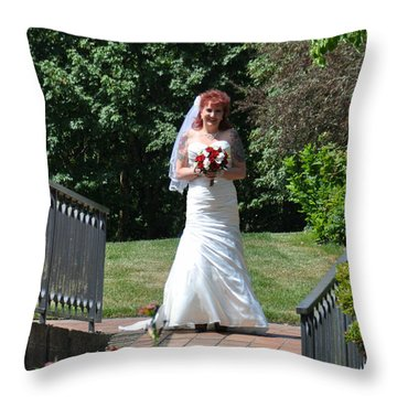 Throw Pillow featuring the photograph Corinne by Mindy Bench