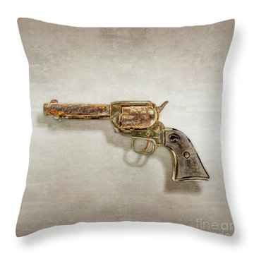 Corroded Peacemaker Throw Pillow by YoPedro