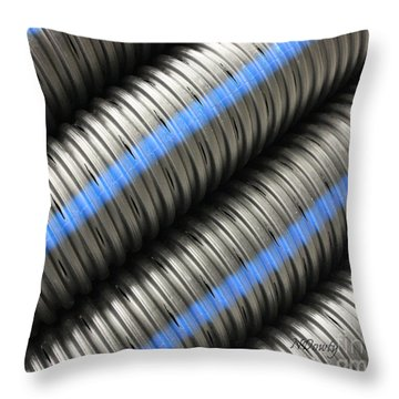 Corrugated Drain Pipe Throw Pillow