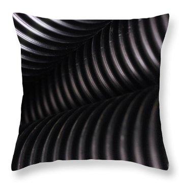 Corrugated Drain Pipe Shadow Throw Pillow