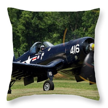 Throw Pillow featuring the photograph Corsair Close-up by Peter Chilelli