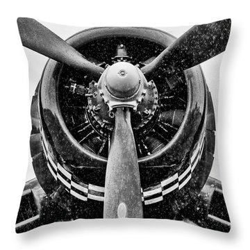 Corsair In Heavy Rain Throw Pillow