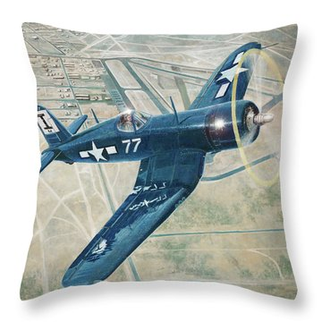 Corsair Over Mojave Throw Pillow