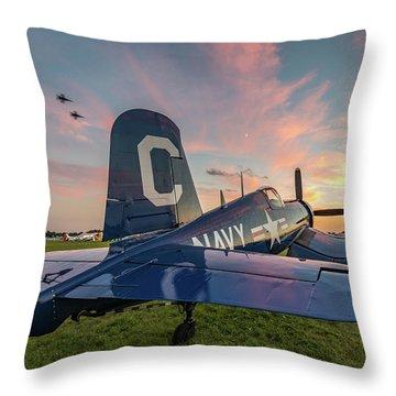 Corsair Sunset Throw Pillow