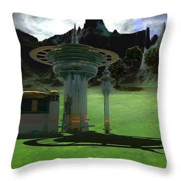 Corsicadian Throw Pillow by Corey Ford