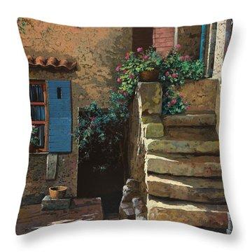 Cortile Interno Throw Pillow by Guido Borelli