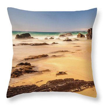 Corunna Point Beach Throw Pillow
