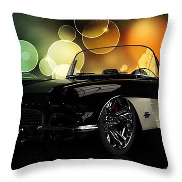 Corvette 1961 Throw Pillow by Louis Ferreira