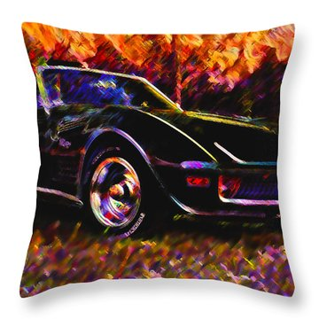 Corvette Beauty Throw Pillow