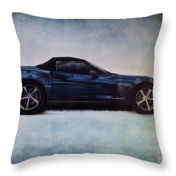 Corvette C6 Grand Sport Convertible. Throw Pillow