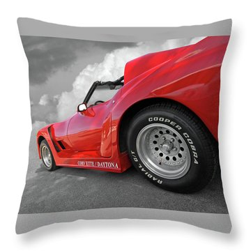 Corvette Daytona Throw Pillow by Gill Billington
