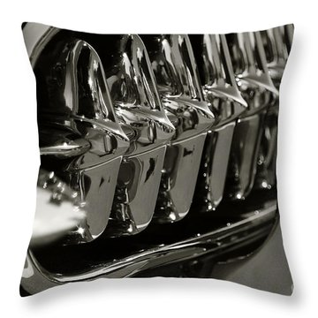 Corvette Grill Throw Pillow