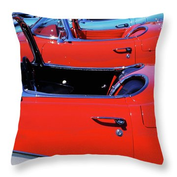Corvette Row Throw Pillow