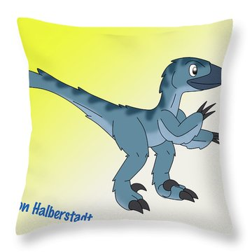 Cory The Raptor Throw Pillow
