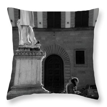 Throw Pillow featuring the photograph Cosimo Ridolfi by Sonny Marcyan